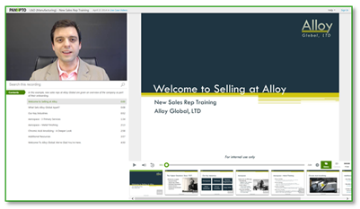 New Sales Rep Training Sample Video - Panopto Video Platform