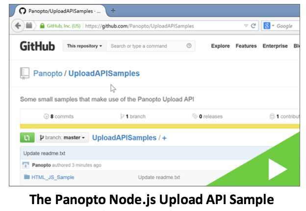 Panopto API Sample - Panopto Video Platform API