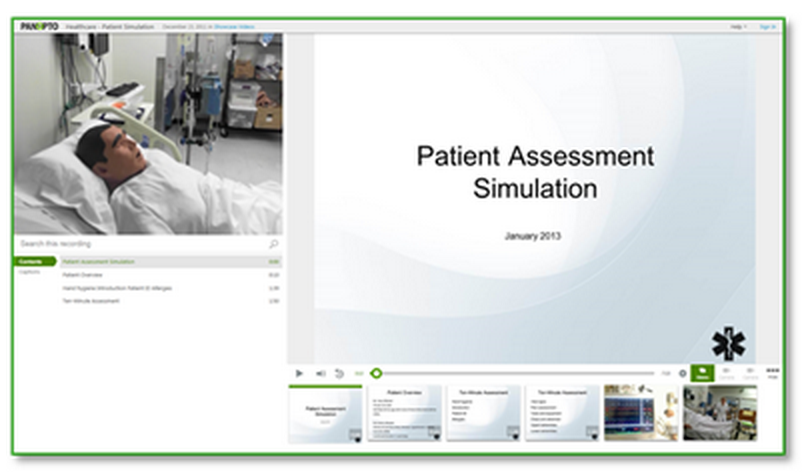 Patient Assessment Sample - Panopto Lecture Capture Platform