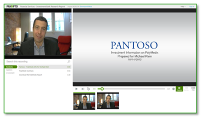 Sample Financial Services Video - Panopto Video Platform