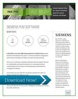 Siemens Case Study - Panopto Video Platform