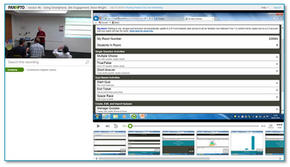 Smartphone Audience Response Systems Präsentation - Panopto Video Platform