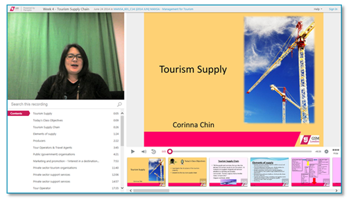 Tourism Supply Chain - Panopto Video Platform