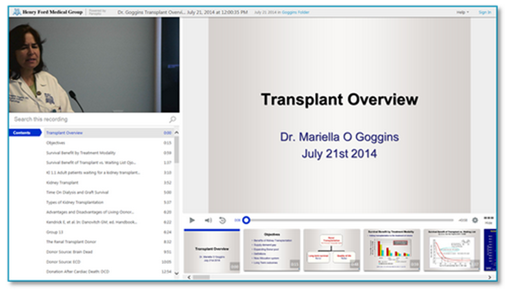 Transplant Overview - Panopto Video Platform