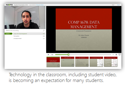 Blended Learning sample - Panopto Lecture Capture platform