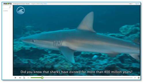 Endangered Ocean - Sharks - Panopto Video Platform