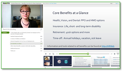 HR and Benefits Sample Video - Panopto Video Platform
