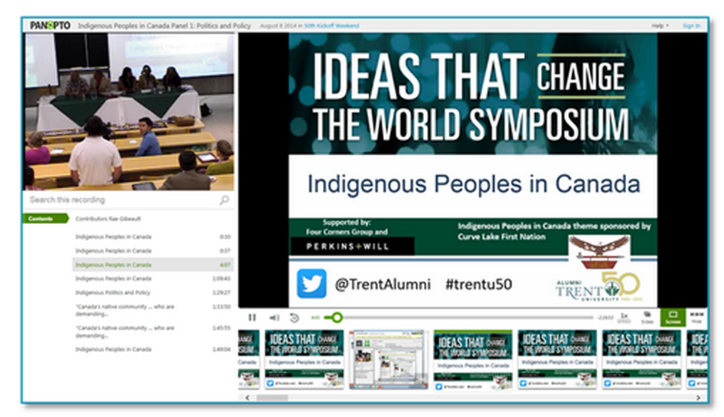 Indigenous People Presentation - Panopto Video Platform