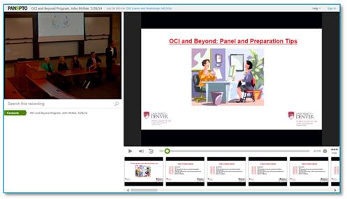 キャンパスでのインタビューのヒント - Panopto Video Platform