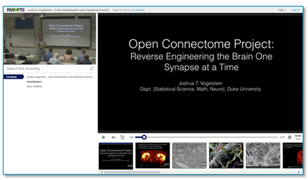 Reverse Engineering the Brain Presentation - Panopto Video Platform