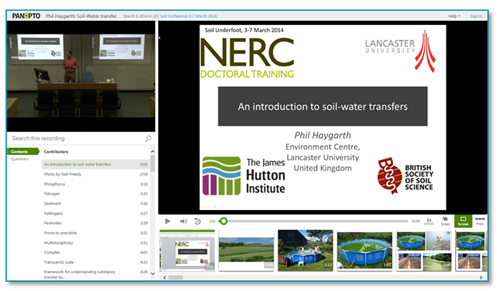 Soil Water Transfers - Panopto Lecture Capture Platform