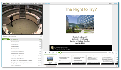 The Right to Try - Panopto Online Presentation Platform
