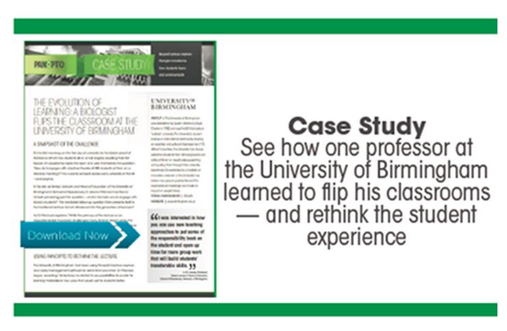 University of Birmingham Case Study - Panopto Flipped Classroom Platform
