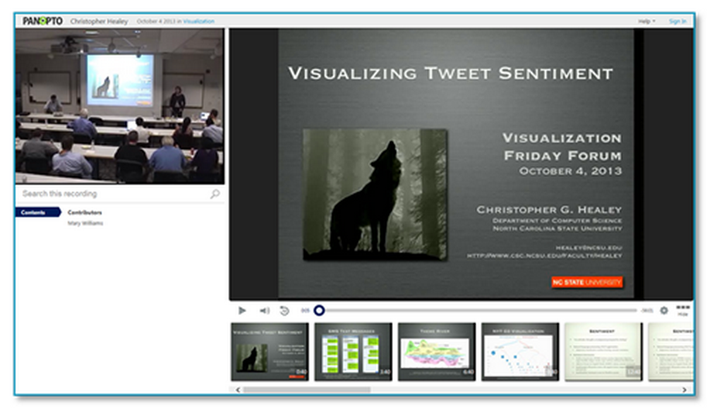 Visualizing Tweet Sentiment Presentation - Panopto Lecture Capture Platform