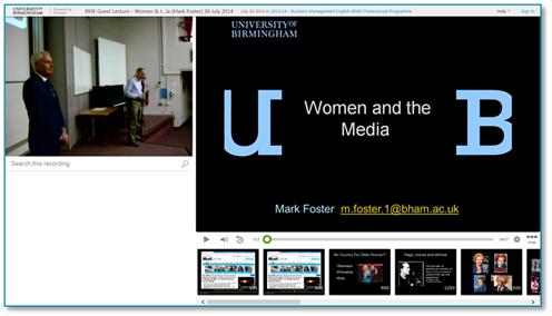 女性とメディア」プレゼンテーション - Panopto Lecture Capture Platform