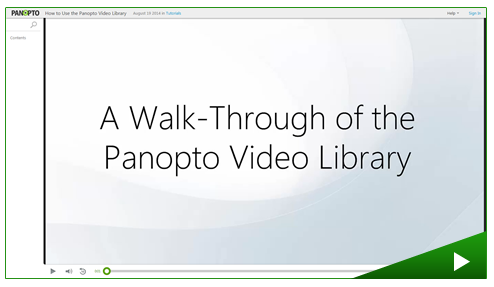 A Walk Through of the Panopto Video Library - Panopto Video Platform
