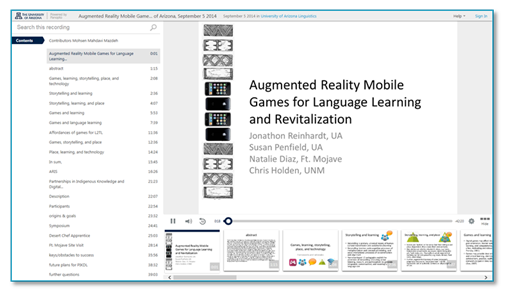 Augmented Reality Mobile Games - Panopto Lecture Capture Platform