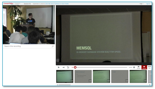 Carnegie Mellon Presentation - Panopto Video Platform