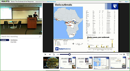 Ebola Outbreak presentation - Panopto Video Platform