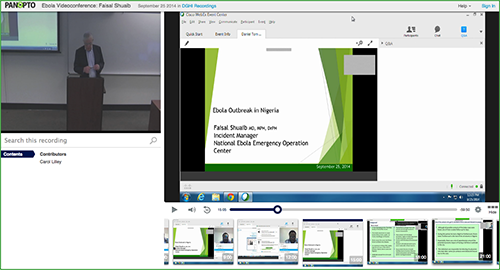 Ebola Videoconference - Panopto Video Platform