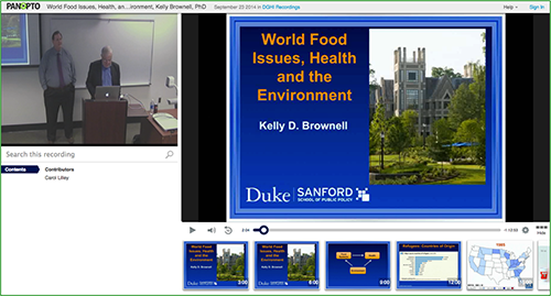 Food Issues Presentation - Panopto Video Platform