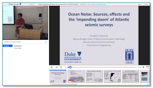 Ocean Noise Presentation - Panopto Lecture Capture Platform