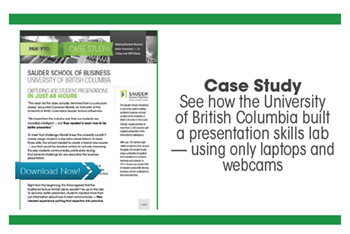 University of British Columbia Case Study - Panopto Student Recording Platform