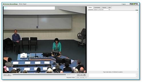 University of Waikato Lecture - Panopto Video Platform