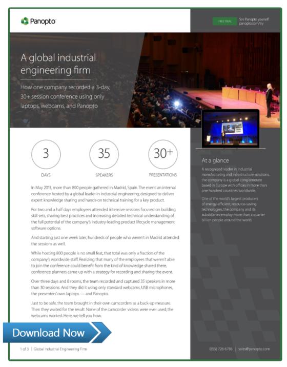 Case Study - Panopto Video Platform