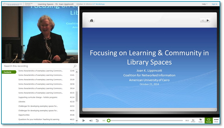 21st Century Libraries - Panopto Video Presentation Recording Software