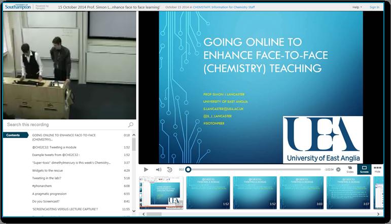 Blended Learning-Präsentation - Panopto Software für aufgezeichnete Videopräsentationen