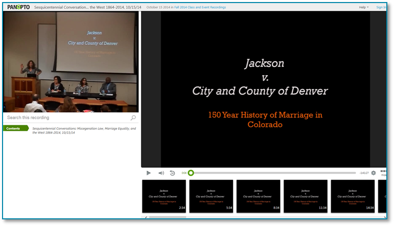 MarriageHistoryInCO - Panopto Recorded Video Presentation Software