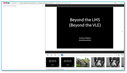 Panopto Video Platform - Beyond the LMS
