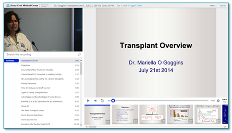 Panopto Video Platform - Transplant Overview