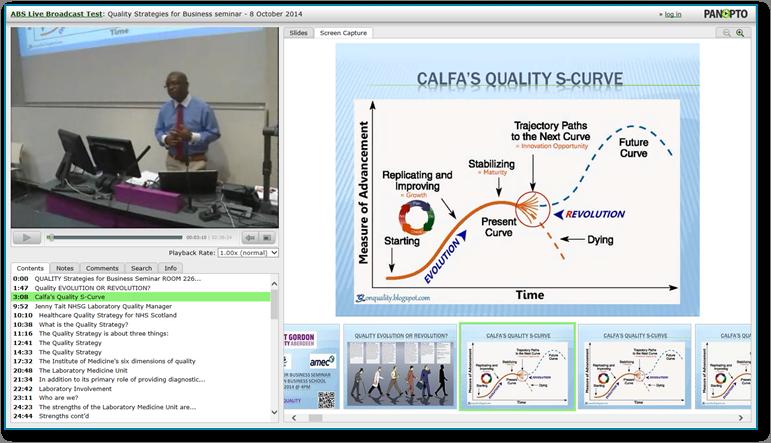 QualityStrategiesForBusiness-Panopto 비디오 프레젠테이션 소프트웨어