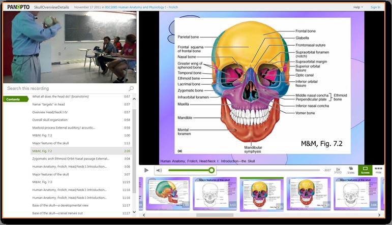 頭蓋骨の概要 - Panopto ビデオプレゼンテーションソフトウェア