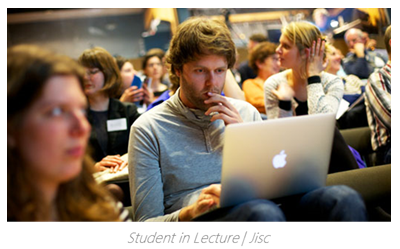 Student in Lecture - Panopto Blended Learning Video Platform