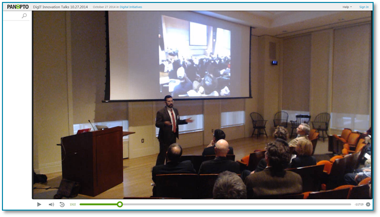 DigIT-Vorträge - Panopto Video-Präsentations-Software