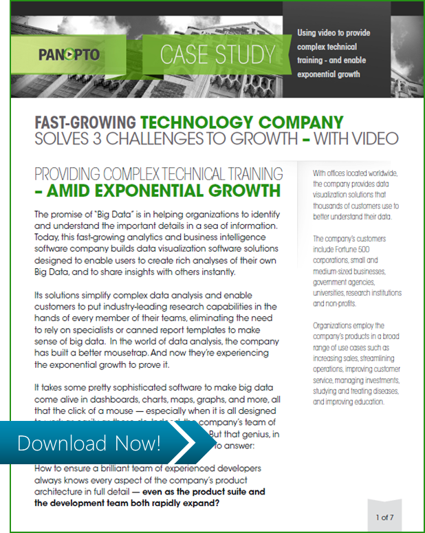 ICON CTA - Fast Growing Tech Company - Panopto Video Platform Case Study