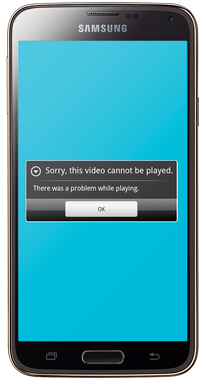 Mobile Video Cannot Be Played Error