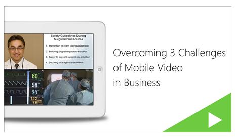 Mobile Video Webinar - Panopto Video Platform
