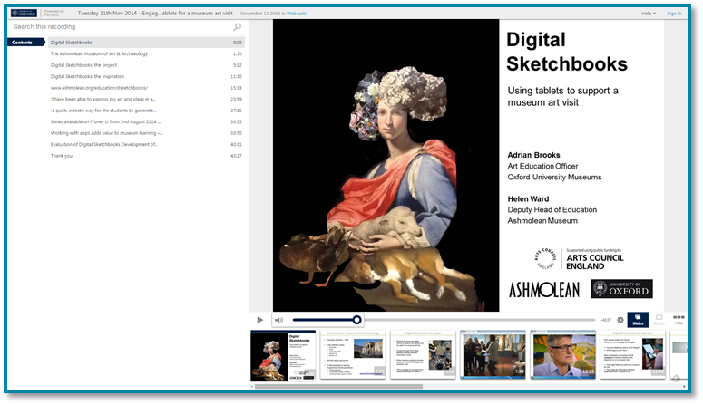 Museums and Tablets - Panopto Video Presentation Software
