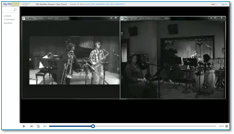 Pitt Berklee Music Performance - Panopto Video Presentation Software