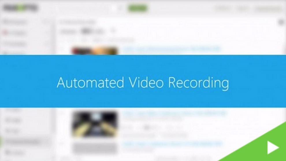 Automatisierte Aufzeichnung - Panopto Video Platform