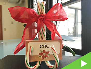 Candy Cane Place Card Holders - Happy Holidays from Panopto