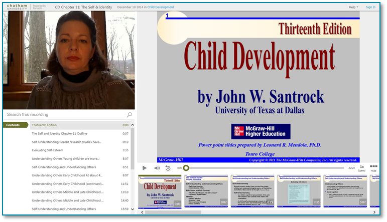 Child Development Self and Identity - Panopto Video Presentation Software