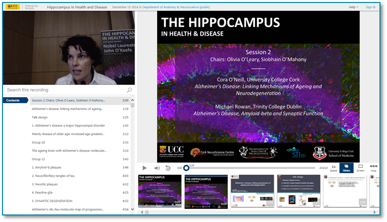 Hippocampus in Health and Disease - Panopto Video Presentation Software