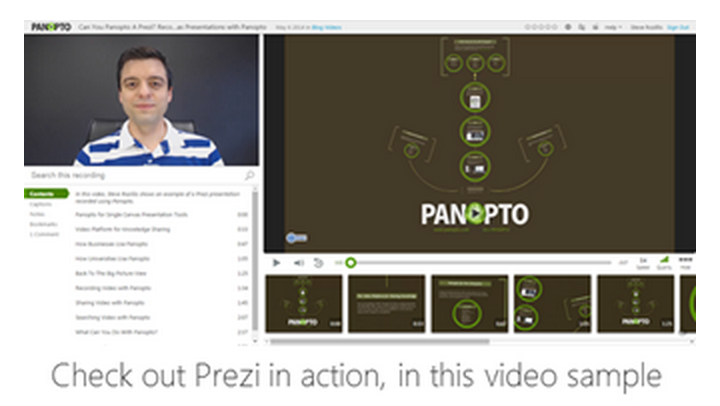 Prezi - Panopto Flipped Classroom Video Platform