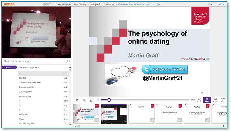 Psychology of Online Dating - Panopto Video Presentation Software