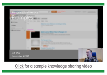 Sample Knowledge Sharing Video - Panopto Video Platform